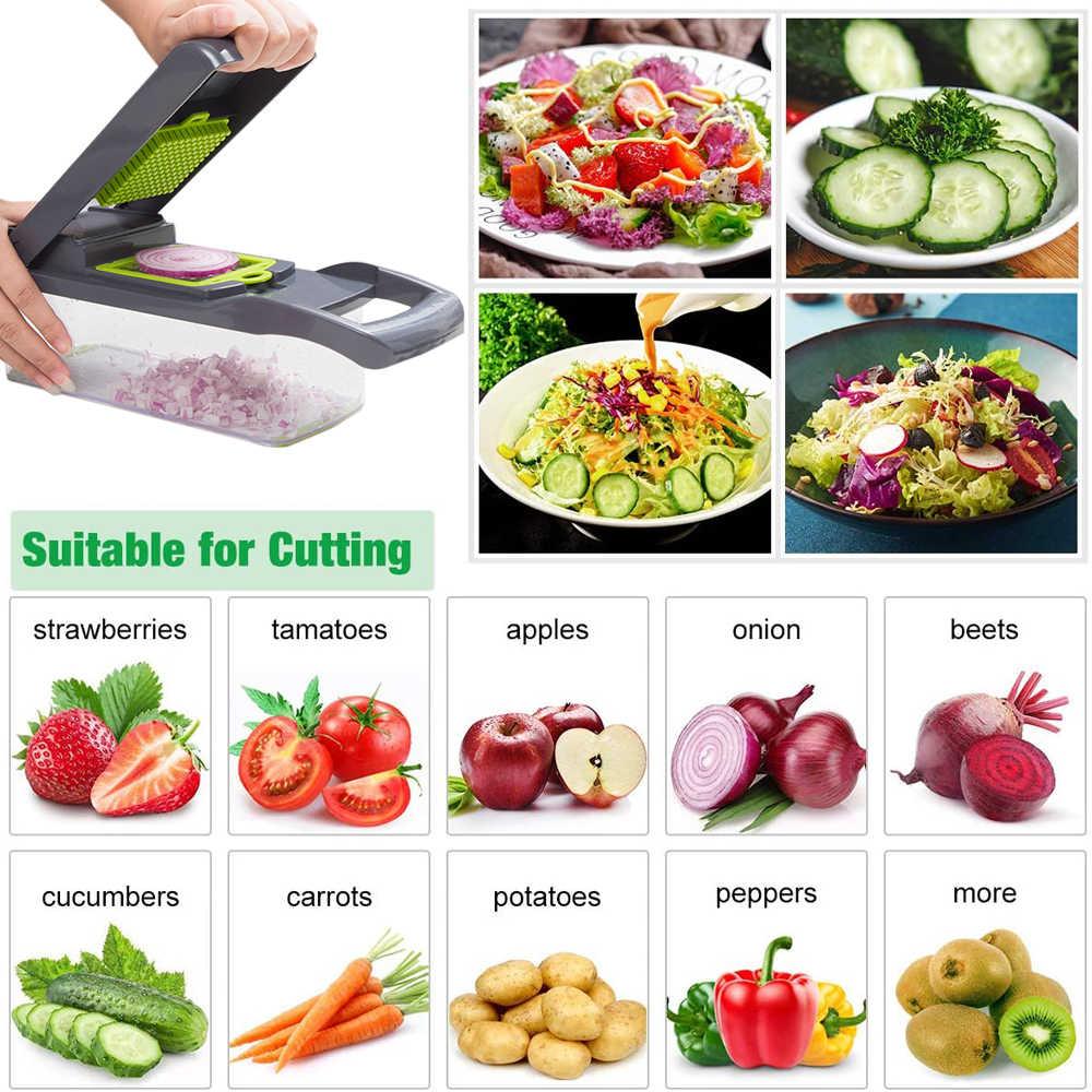Multifunktionale Gemüse Cutter Mandoline Slicer Obst Kartoffel Schäler Karotte Reibe Korb Gemüse Slicer Küche Zubehör