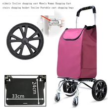 Elderly Trolley shopping cart 6 Wheels Woman Shopping Cart for stairs shopping basket Trailer Portable cart Large shopping bags cheap Canvas CN(Origin) 3 2 kg 54 cm Carry-Ons 20 cm Spinner 32 cm FAN4 Luggage Unisex