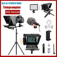 แบบพกพา Mini Teleprompter สำหรับโทรศัพท์ DSLR สด Broadcast มือถือ Teleprompter Artifact วิดีโอรีโมทคอนโทรล VS T1