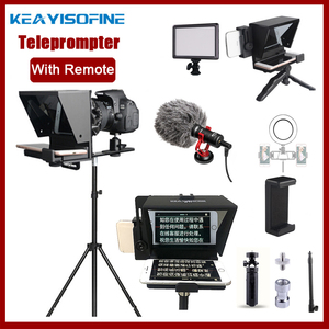 Image 1 - Portable Mini Teleprompter for Phone DSLR Recording Live Broadcast Mobile Teleprompter Artifact Video With Remote Control VS T1