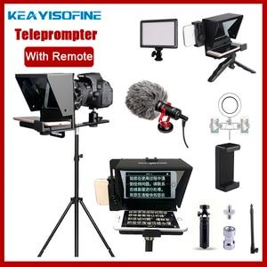 Image 1 - Taşınabilir Mini Teleprompter için telefon DSLR kayıt canlı yayın mobil Teleprompter artefakt Video uzaktan kumanda ile VS T1