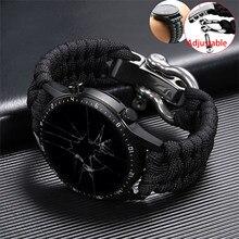 Correa de 20 y 22mm para reloj Samsung Galaxy Watch 3, banda de reloj de 41 y 45mm, 42 y 46mm para Huawei Watch GT 2e, pulsera de cuerda con hebilla ajustable