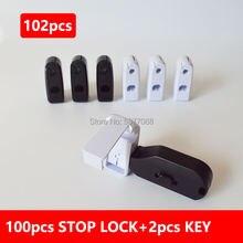 102 шт Белый samsung стоп замок и магнитный ключ Антивор Магнитный