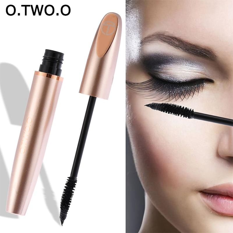 O.TWO.O 3D Silk Fiber Mascara Waterproof Makeup Lengthening Long Lasting Curling For Eyelashes Extension Make Up Thick Mascara