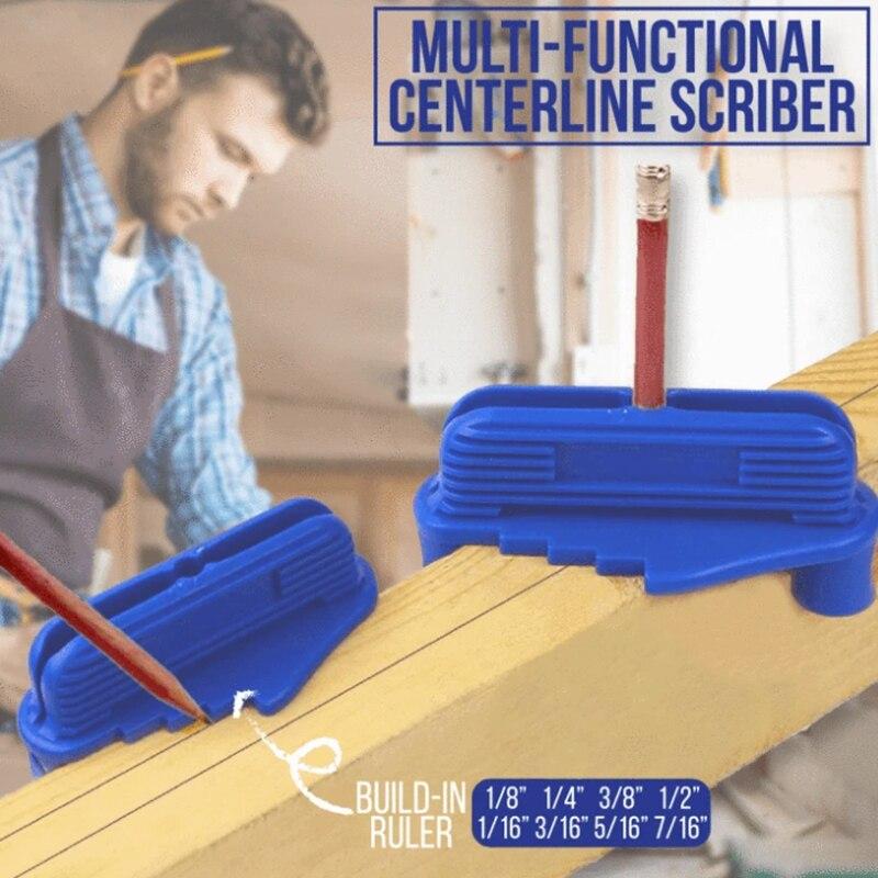 Multi-Function Center Scriber Woodworking Marking Gauge Centerline Marking Tool Magnetic Center Finder Tool Dropshipping