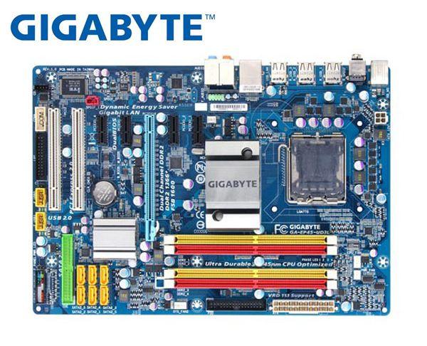 Gigabyte GA-EP45-UD3L  Original Motherboard LGA 775 DDR2 EP45-UD3L Boards P45 Used Desktop Motherboard
