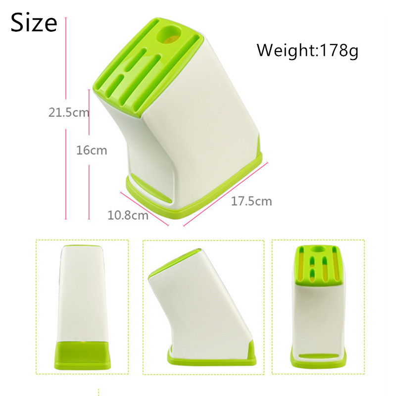 FASOTY Kitchen Plastic Knife Holder Stands For Knives Knives Block Tool Storage Holder Drain Kitchen Gadget Kitchen Utilities