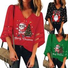 Новое поступление на Новый год футболки с Рождеством женская