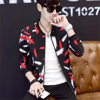 Floral Jacket Coat Men Flower Printed Mens Bomber Jackets Plus Size 5XL Windbreakers Coats Casual Slim Fit Baseball Jackets Male