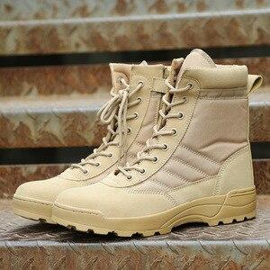 Image 3 - Nam Sa Mạc Chiến Thuật Quân Sự Giày Nam Công Việc Lại An Toàn Giày Zapatos De Hombre Quân Khởi Động Mắt Cá Chân Buộc Dây Chiến Đấu Giày nam Giày