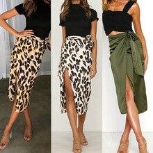 Skirts Women Fall 2019 New Chiffon Leopard Print Maxi Skirt