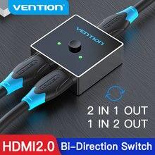 Tions HDMI Splitter 4K 60Hz HDMI Schalter Bi-Richtung 1x 2/2x1 Adapter HDMI switcher 2 in 1 für HDTV Box PS4/3 HDMI Schalter