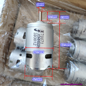 Diameter 42m original JOHNSON 775 DC motor DC12V~18V rs-775 high speed elctric drill motor with cooling fan ~(China)
