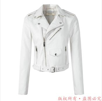 New Arrival brand Winter Autumn Motorcycle leather jackets yellow leather jacket women leather coat  slim PU jacket Leather 11
