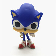 Sonic the Hedgehog with Ring 283 Game Model Character Vinyl Doll Action Figure Collection Gifts Loose No Box Finished Goods rocks alice cooper hot topic 68 69 music model character vinyl doll action figure collection no box