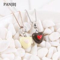 New 100% 925 Sterling Silver Bead Charm Double Hearts Love Pendant Enamel Charms Beads Fit Pandora Bracelets DIY Women Jewelry