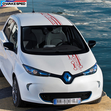1 Sets Racing Sport Stripes For Renault ZOE Electricity Car Hood Roof Tail Sticker Rear Front Bumper Decor Vinyl Decals