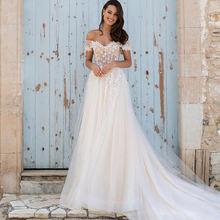 Платье свадебное кружевное ТРАПЕЦИЕВИДНОЕ с открытой спиной