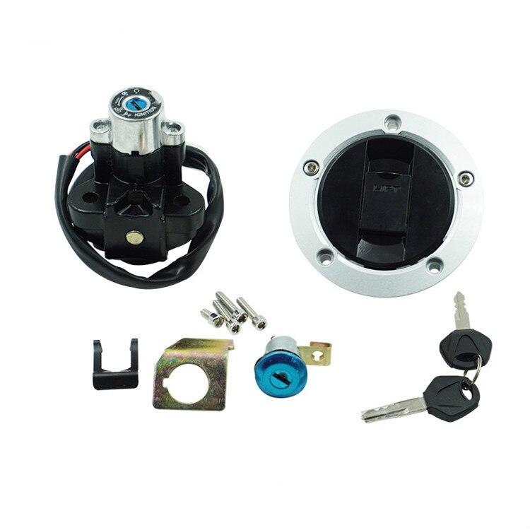 Motorcycle Ignition Switch Petrol Oil Fuel Gas Tank Cap Cover Seat Locks Key Set For Suzuki GSXR 600 GSXR750 04-05