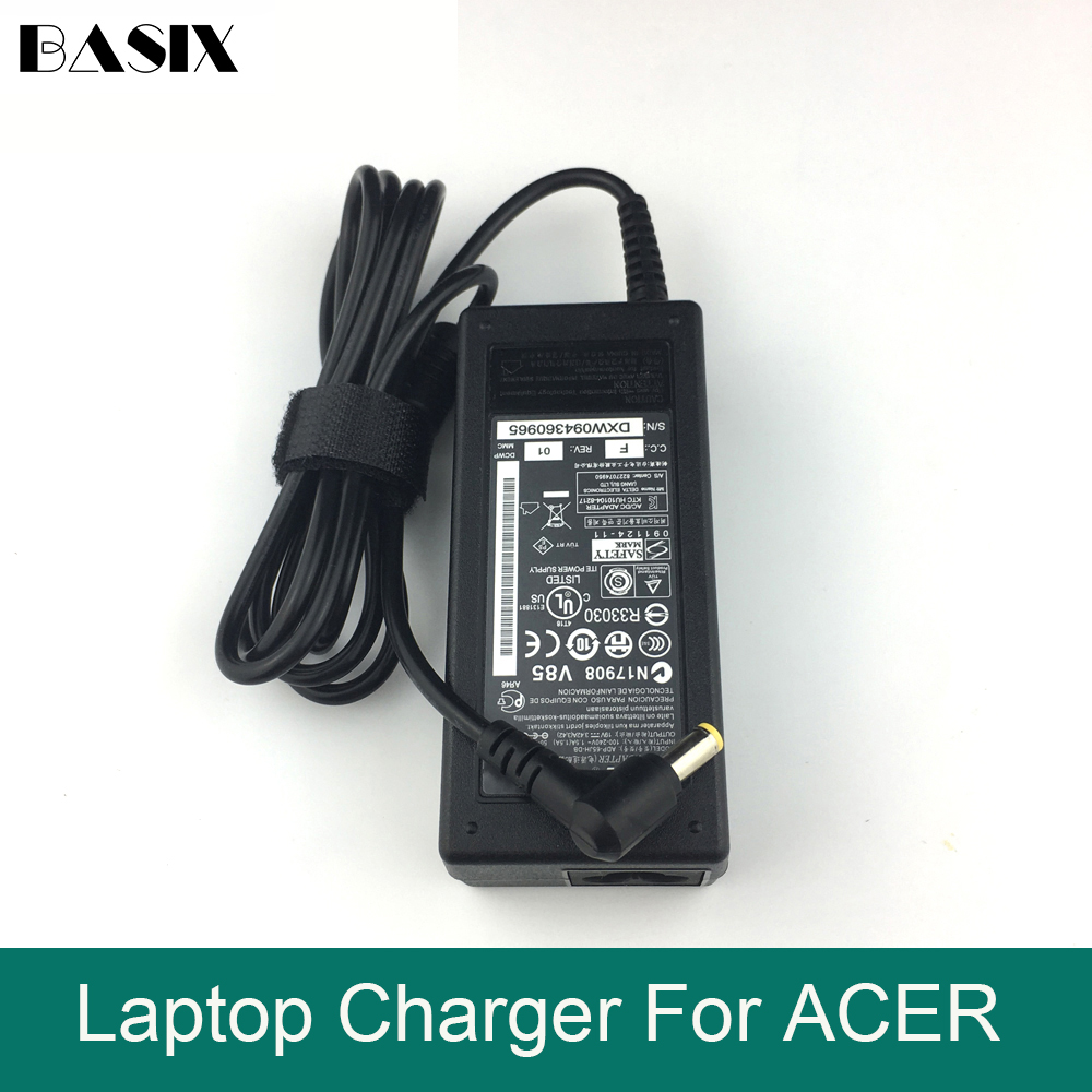 Basix Genuine 65W 19v Laptop Charger AC Adapter Power FOR Acer Aspire 5310 5742 5742G 5742Z 5742ZG Charger