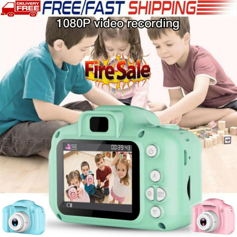 Children 1080P Digital Camera 2 Inch Screen Cute Cartoon Camera Toys Mini Video Camera Kids Child Gift image