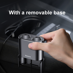 Image 3 - Baseus Dual Usb Autolader 3.1A Quick Opladen Sigarettenaansteker 2 In 1 Universele Mobiele Telefoon Oplader Adapter Usb Auto lader