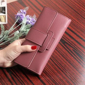 Kobiety PU skóra koreański styl długie portfele kobiece portmonetki posiadacz karty sprzęgła portfele tanie i dobre opinie CN (pochodzenie) long POLIESTER 1 5cm Stałe Klasyczny Wewnętrzny przedziałek Kieszonka na monety Przedziałek na notatki
