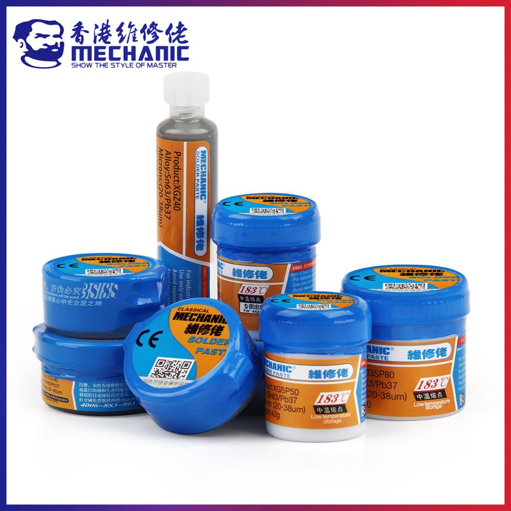 MECHANIC Original Solder Tin Paste 183C Melting Point Welding Flux Soldering Cream Sn63/Pb37 Repair BGA CPU LED Rework Tools
