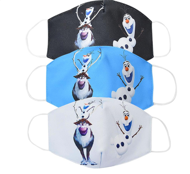 New Disney Frozen Half Muffle Face Mask Adult Kids Children Cottons Dustproof Anime Cartoon Mouth Masks Half Muffle Face Mask 4