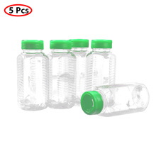 Jars Seasoning-Container-Pourer Spice-Bottles Plastic Pepper Storing 250g with Sifter-Lid