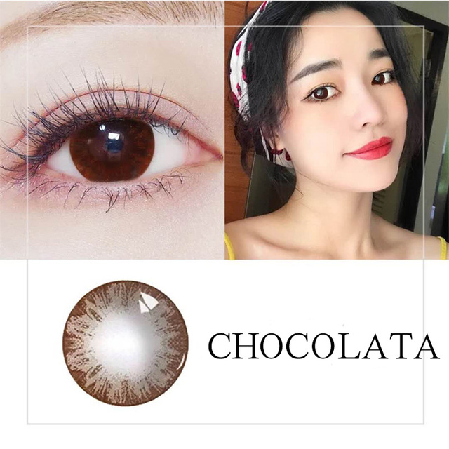 Beautiful Pupil Color Contact Lenses Monthly Throw Female Path 14.5mm Cute Multicolor Party Gift Cartoon Girl Decoration Cosplay 3