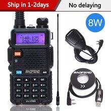 Baofeng Walkie Talkie de alta potencia, 8 W, 8 vatios, CB Ham, Radio portátil, 10km de largo alcance, Pofung UV5R para caza, UV 5R