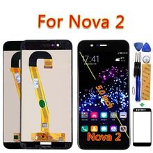 Für Huawei Nova 2 LCD Display Für PIC AL00 PIC L09 PIC L29 PIC TL00 PIC LX9 Touchscreen 5,0 zoll Digitizer Montage Rahmen