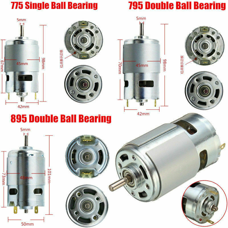 High Power Large Torque Motor 775 795 895 Motor Ball Bearing Shaft Low Noise
