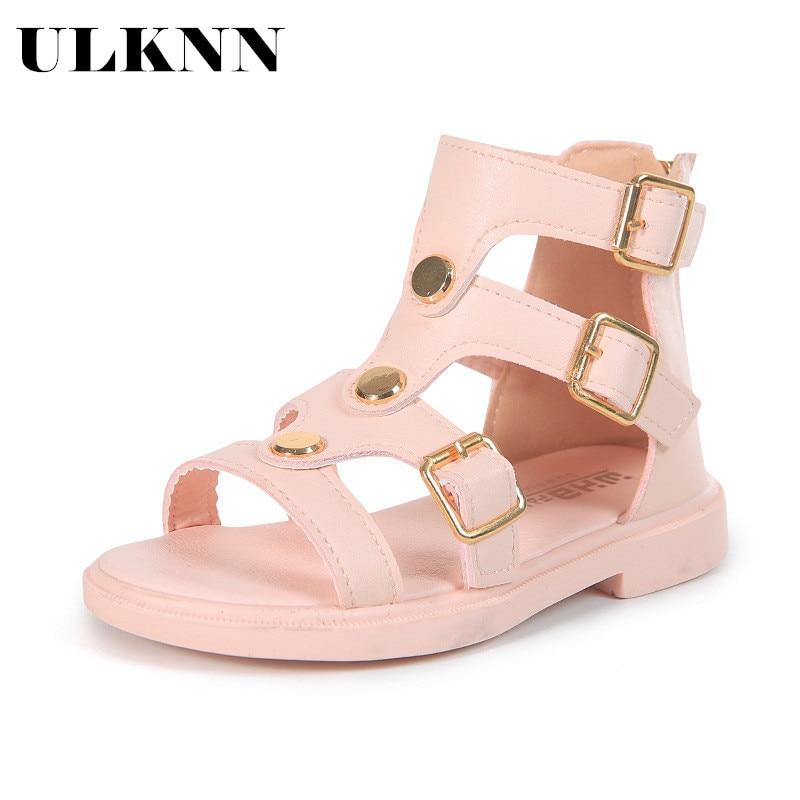 ULKNN New Fashion Princess Beach Children's Shoes Children's Leather Sandals 2020 Children's Summer Shoes