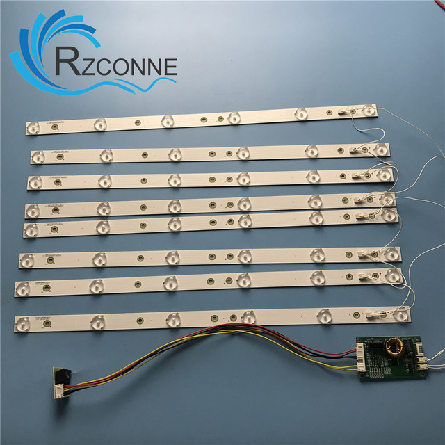 8 pcs 453mm LED תאורה אחורית 6 מנורות רצועת ערכת לוח w/עדשה אופטית Fliter עבור 40 42 43 46 אינץ LCD LED טלוויזיה 12V קלט עדכון CCFL