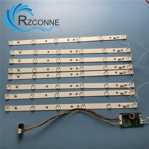 8 pcs 453mm LED Backlight 6 Lamps strip kit Board w/ Optical Lens Fliter for 40 42 43 46 inch LCD LED TV 12V input update CCFL(China)