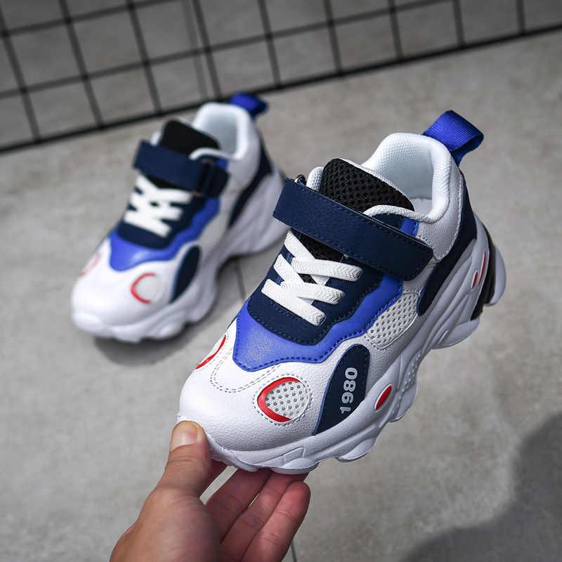 Erkek moda ayakkabı bebek eğitmenler çocuk okul spor ayakkabılar yumuşak okul ayakkabısı