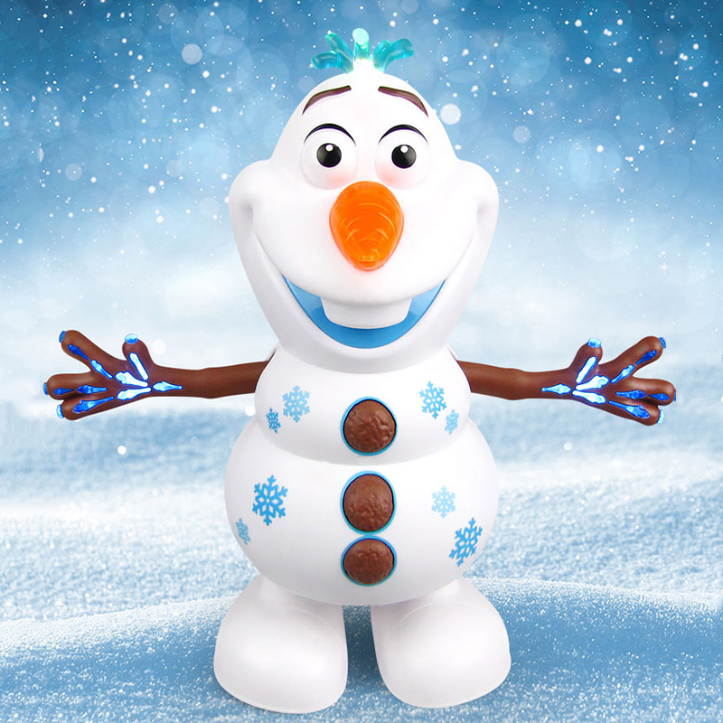 Snowman Olaf Electric Toys Dance Moves Light Music Cartoon  Plastic Toy Christmas Gifts For Children