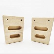 2pcs Indoor cheap rock climbing hang finger strength training beech wood hangboard for rock climbing lover