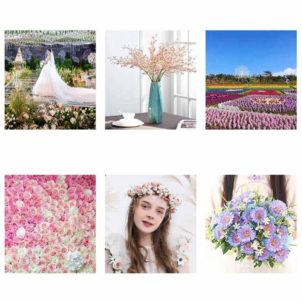 7 ヘッドデイジーの花花束単一の分岐太陽の花人工ガーベラ花シルク保持花の装飾