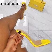 Women's Crystal Heels Sandals Sexy Summer High Heel Shoes Wo