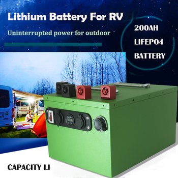 Lifepo4 Lithium Iron Phosphate 12v 200Ah Battery For Solar Wind Energy Fishing Boat EV RV UPS AGV Yacht image
