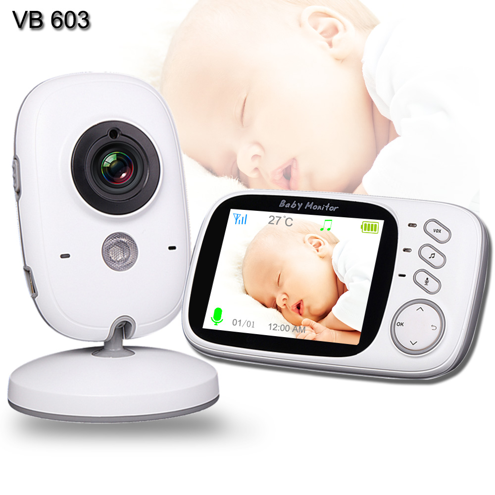 Baby Monitor With Camera Multifunction WiFi Baby Nanny Video Camera Two Way Audio Temperature Monitoring Baby Sleeping Monitor