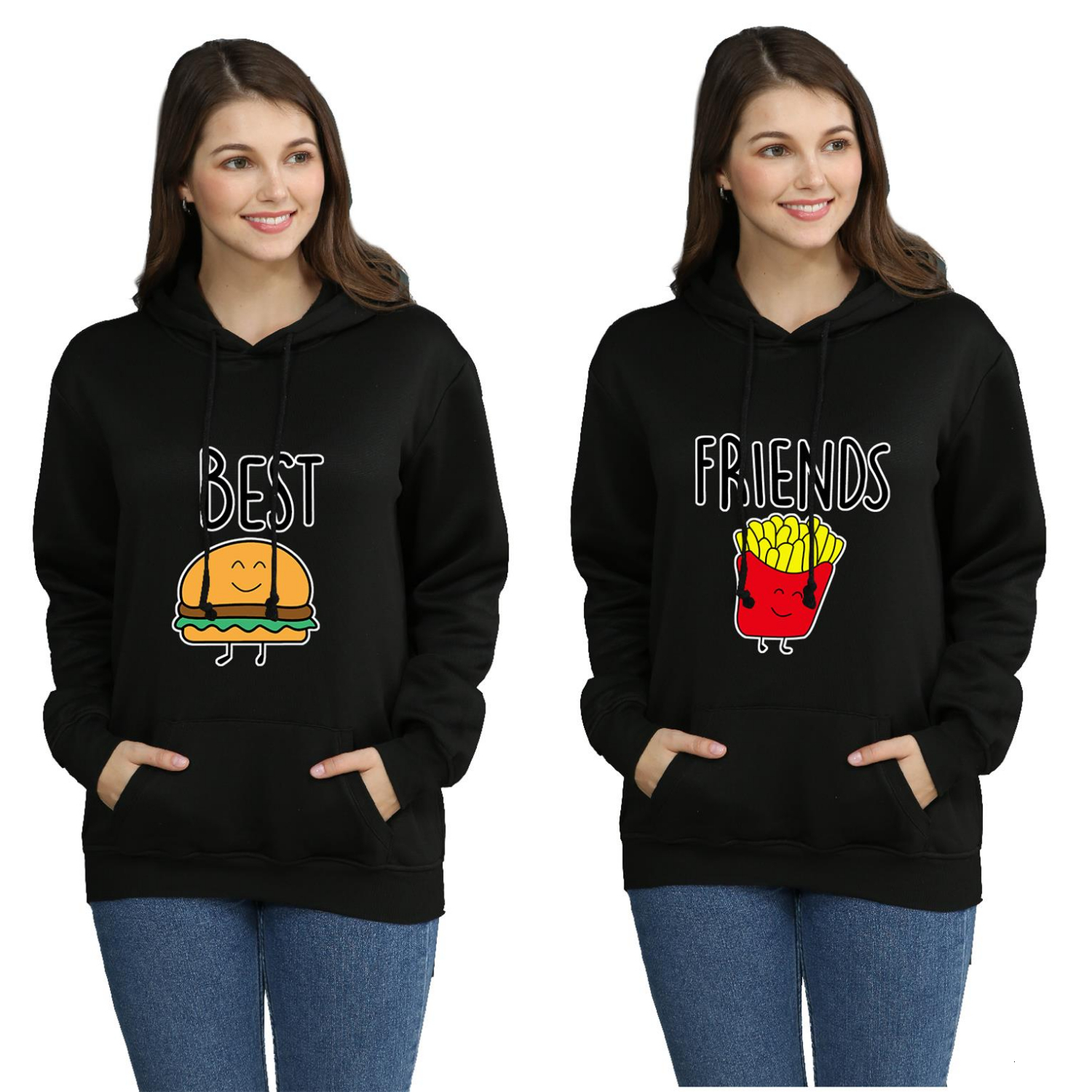 Friends French Fry Best  Hoodies Sweatshirt Jacket Casual Oversized Hoodie Plus Size 4XL Merchandise