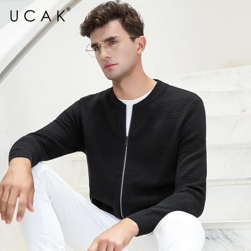 UCAK Brand Sweater Men Autumn Winter Warm Cardigan Men Clothes 2019 New Arrivals Casual Coat Men Plus Size Cotton Knitwear U1012
