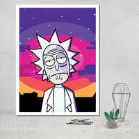Nordic Style Pictures Wall Art Modular Rick and Morty Canvas Anime Home Decoration Painting Print Poster for Living Room Cuadros