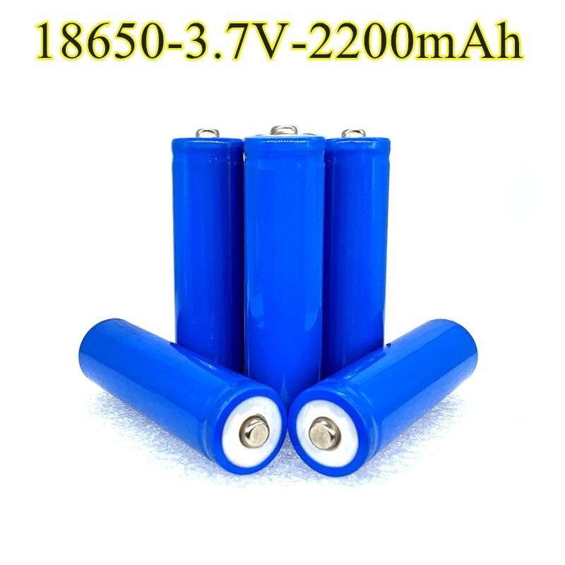 Литиевая батарея 18650, 2200 мАч, 3,7 в, литий-ионные перезаряжаемые батарейки pkcell 18650, батарея с плоским верхом, батареи без защиты