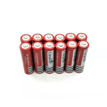 12X 18650 Free shippng Li-ion Rechargeable 3.7V 6800mAh Battery for Flashlight Newest battery flashlight