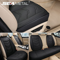PU Leather Seat Cover Protector Universal Car Seats Cushion Four Seasons Auto Chairs Pads Front/Rear Seat Cover Interior Product